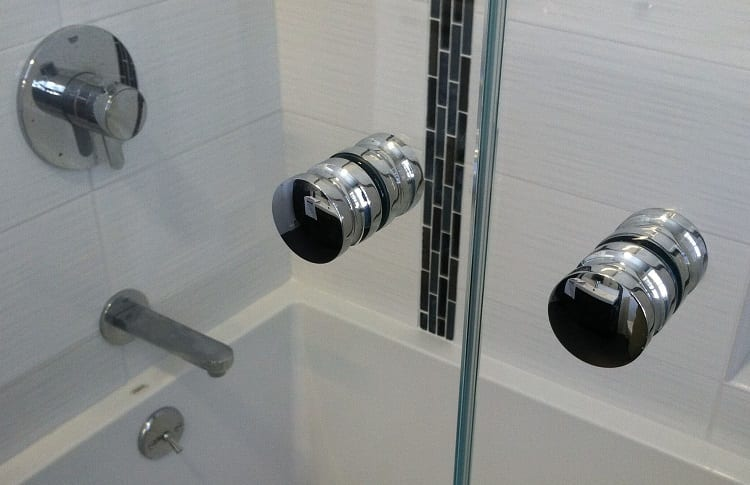 knobs on shower stall
