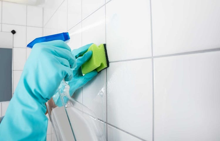 shower walls cleaning with vinegar