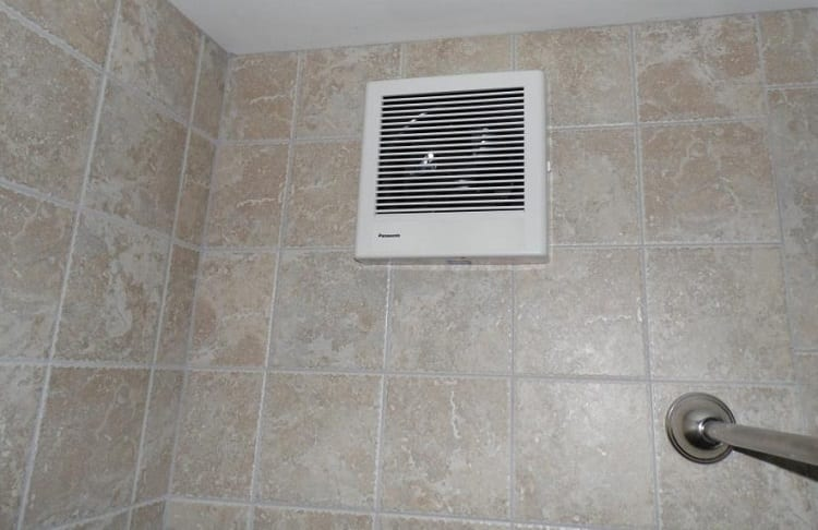 ventilation on bathroom ceiling