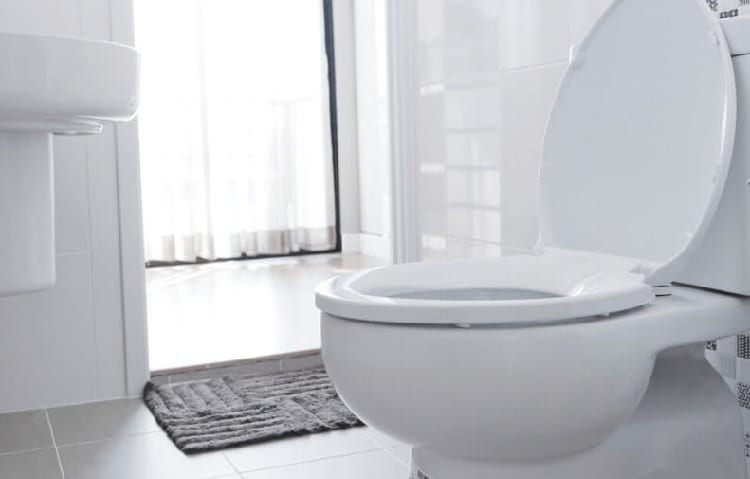 toilet with air in pipes