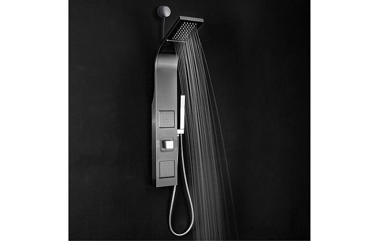 "AKDY 39"" Wall Mount Easy Connect Rainfall Waterfall Multi-Function Shower Panel Review"