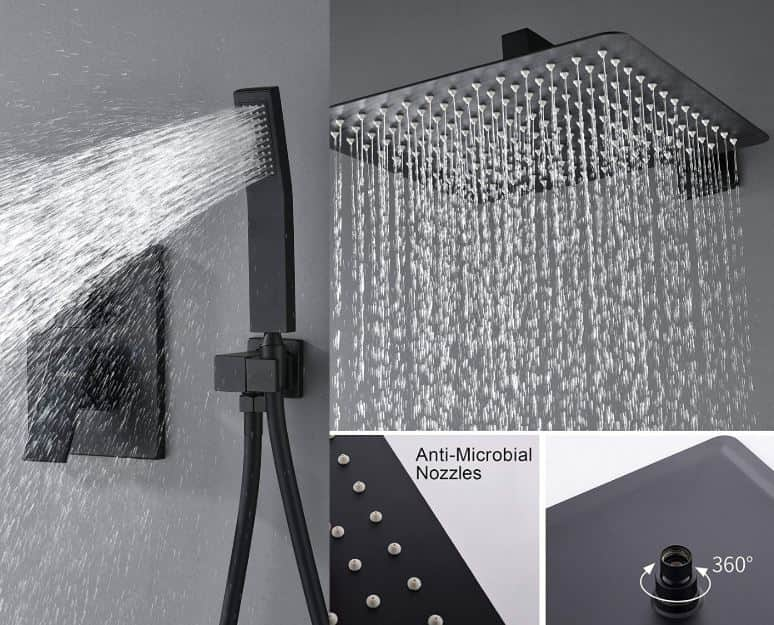 Kojox shower head best rain shower head high rated and reviews