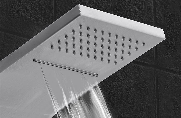 shower head with different water shower types
