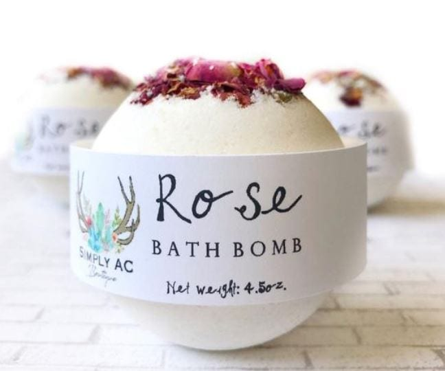 Rose essential oil bath bombs - best for fragrance